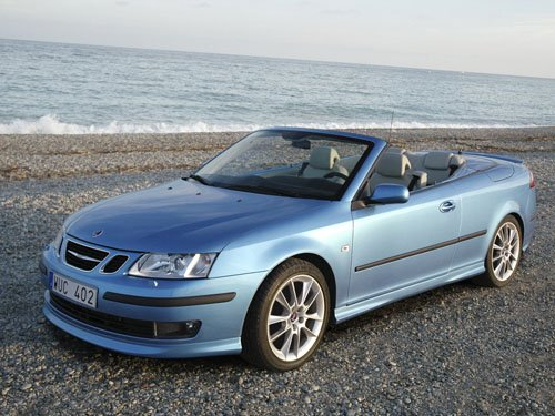 "Saab 9-3 Convertible 20 Year Edition Car Poster Print on 10 mil Archival Satin Paper 16"" x 12"""