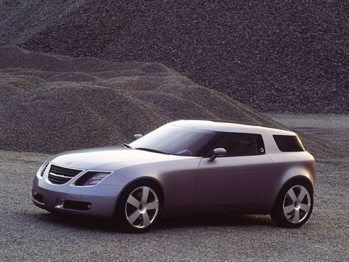 "Saab 9-X Concept Car Poster Print on 10 mil Archival Satin Paper 16"" x 12"""
