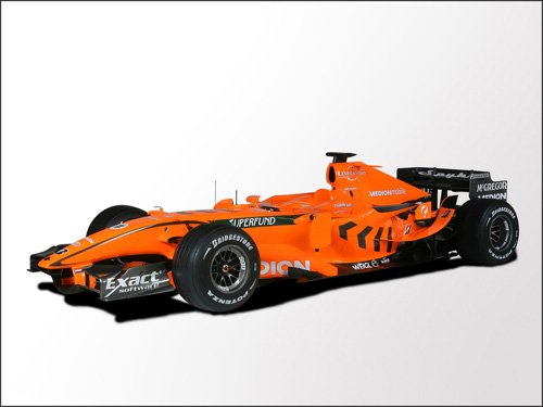 "Spyker Formula One Car Poster Print on 10 mil Archival Satin Paper 16"" x 12"""