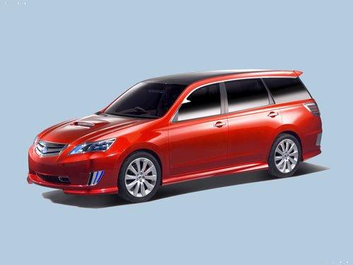 "Subaru Exiga Concept Car Poster Print on 10 mil Archival Satin Paper 16"" x 12"""