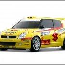"Suzuki Swift Rally Car Poster Print on 10 mil Archival Satin Paper 16"" x 12"""