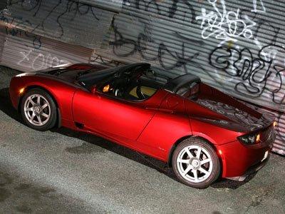 "Tesla Roadster Car Poster Print on 10 mil Archival Satin Paper 16"" x 12"""