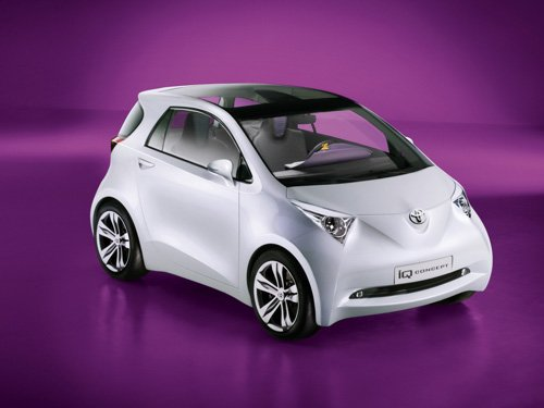 """Toyota iQ Concept Car Poster Print on 10 mil Archival Satin Paper 16"""" x 12"""""""