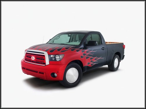 "Toyota Tundra Hot Rod Truck Poster Print on 10 mil Archival Satin Paper 16"" x 12"""