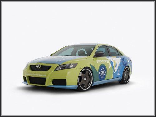 """Toyota Surfrider Camry Hybrid Concept Car Poster Print on 10 mil Archival Satin Paper 16"""" x 12"""""""