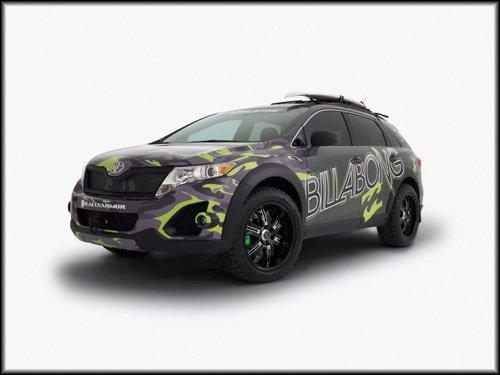 "Toyota Billabong Venza Concept Car Poster Print on 10 mil Archival Satin Paper 16"" X 12"""