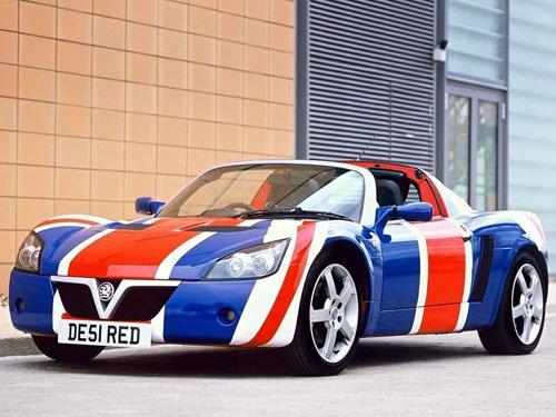 "Vauxhall Union Jack VX220 Race Car Poster Print on 10 mil Archival Satin Paper 16"" x 12"""