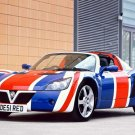"Vauxhall Union Jack VX220 Race Car Poster Print on 10 mil Archival Satin Paper 16"" x 12"""