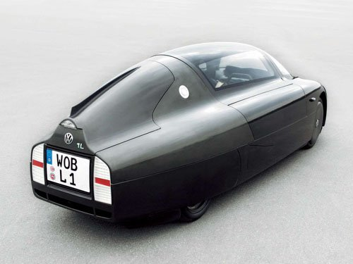 "Volkswagen 1 Liter Concept Car Poster Print on 10 mil Archival Satin Paper 16"" x 12"""
