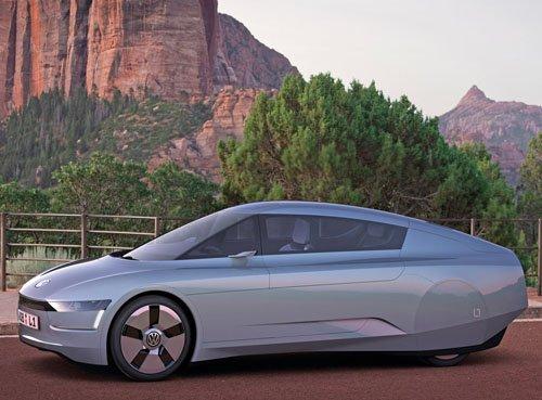 "Volkswagen L1 Concept Car Poster Print on 10 mil Archival Satin Paper 16"" x 12"""