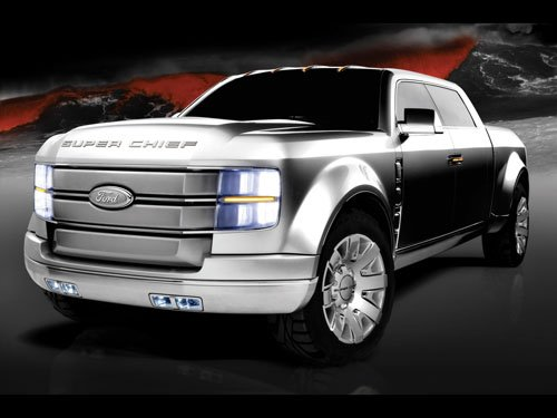 """Ford F250 Super Chief Concept Truck Poster Print on 10 mil Archival Satin Paper 16"""" x 12"""""""""""