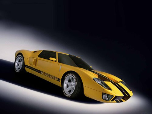 """Ford GT40 Concept Car Poster Print on 10 mil Archival Satin Paper 16"""" x 12"""""""""""