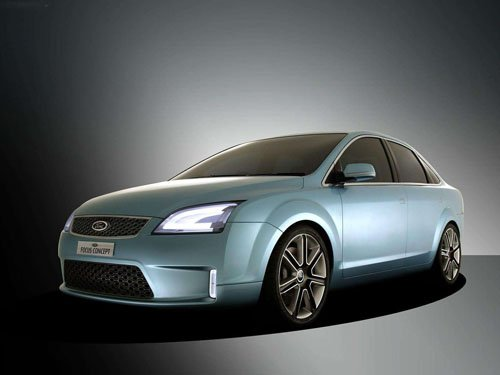 """Ford Focus 4 Door Concept Car Poster Print on 10 mil Archival Satin Paper 16"""" x 12"""""""""""