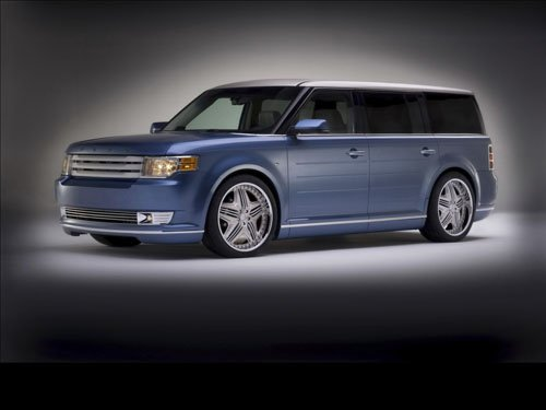 "Ford Flex by Chip Foose Concept Car Poster Print on 10 mil Archival Satin Paper 16"" x 12"""""