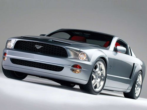 """Ford Mustang GT Coupe Concept Car Poster Print on 10 mil Archival Satin Paper 16"""" x 12"""""""""""