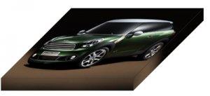 "Mini Paceman Concept Archival Canvas Car Print (Mounted) 16"" x 12"""