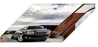 "Chrysler 300 Car Archival Canvas Print (Mounted) 16"" x 12"""