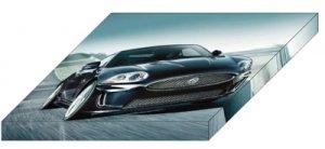 "Jaguar XXR 175 Archival Canvas Car Print (Mounted) 16"" x 12"""