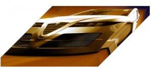 "Alfa Romeo Spix Concept Archival Canvas Car Print (Mounted) 16"" x 12"""