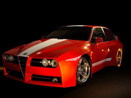 """Racer X Alfa-Romeo GTV Evoluzione Concept Car Poster Print on 10 mil Archival Satin Paper 20"""" x 15"""""""
