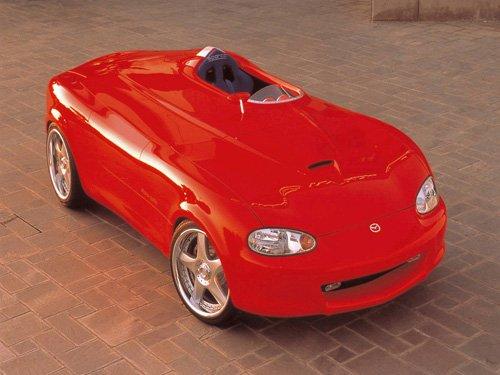 """Mazda Miata Mono-Posto Concept Archival Canvas Car Print (Rolled) 16"""" x 12"""""""