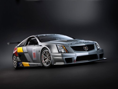 """Cadillac CTS-V Coupe Race Car Poster Print on 10 mil Archival Satin Paper 20"""" x 15"""""""