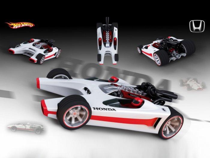 "Honda Hot Wheels Racer Car Poster Print on 10 mil Archival Satin Paper 20"" x 15"""