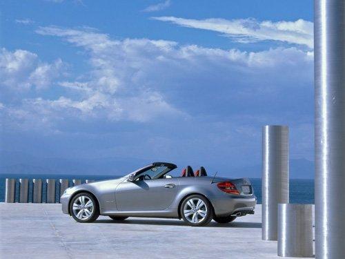 "Mercedes-Benz SLK Car Poster Print on 10 mil Archival Satin Paper 20"" x 15"""