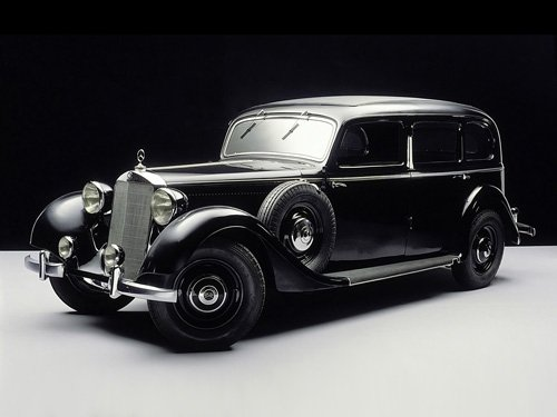 "Mercedes-Benz 260 D 1936-1940 Car Poster Print on 10 mil Archival Satin Paper 16"" x 12"""