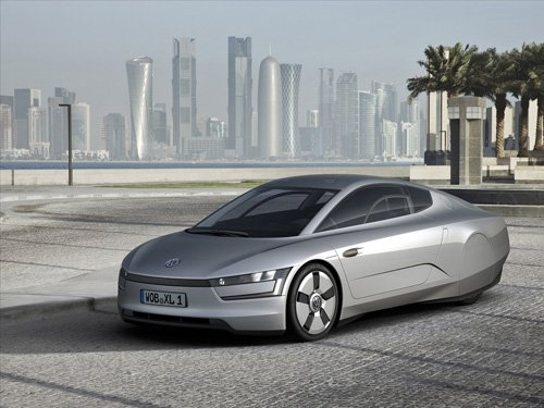 """Volkswagen XL1 Concept Car Poster Print on 10 mil Archival Satin Paper 16"""" x 12"""""""