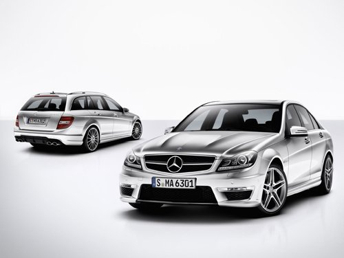 """Mercedes-Benz C63 AMG Car Poster Print on 10 mil Archival Satin Paper 16"""" x 12"""""""