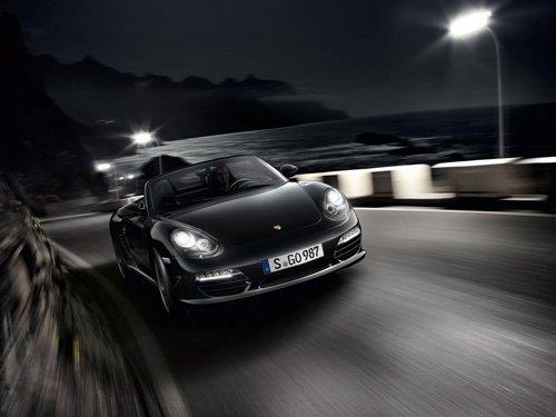 "Porsche Boxster S Black Edition Car Poster Print on 10 mil Archival Satin Paper 16"" x 12"""