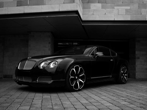 "Bentley Continental GTS Black Edition Car Poster Print on 10 mil Archival Satin Paper 16"" X 12"""
