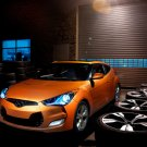 "Hyundai Veloster (2012) Car Poster Print on 10 mil Archival Satin Paper 16"" x 12"""