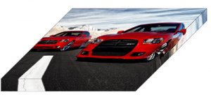 """Dodge Charger R/T and Charger SRT8 Car  Archival Canvas Print (Mounted) 16"""" x 12"""""""