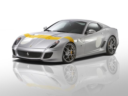 "Ferrari 599 Novitec Rosso GTO Car Poster Print on 10 mil Archival Satin Paper 20"" x 15"""