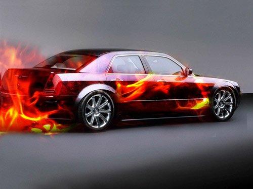 """Chrysler 300C Custom Car Poster Print on 10 mil Archival Satin Paper 26"""" x 16"""""""