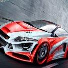 """Honda CR Z Sport Concept Car Poster Print on 10 mil Archival Satin Paper 16"""" x 12"""""""