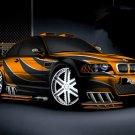"BMW Tuned Custom Car Poster Print on 10 mil Archival Satin Paper 26"" x 16"""