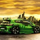 "Volkswagen Scirocco Custom Car Poster Print on 10 mil Archival Satin Paper 16"" x 12"""