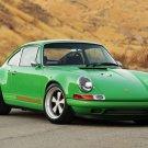 "Porsche Singer 911 Car Poster Print on 10 mil Archival Satin Paper 26"" x 16"""