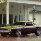 "Plymouth Barracuda Custom Car Poster Print on 10 mil Archival Satin Paper 20"" x 15"""