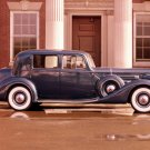 "Packard (1937) Sedan Car Poster Print on 10 mil Archival Satin Paper 16"" x 12"""