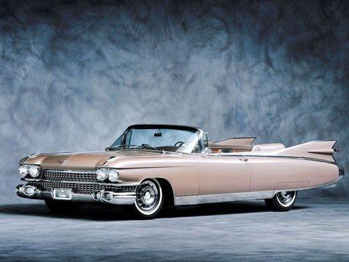 "Cadillac Eldorado (1959) Convertible Car Poster Print on 10 mil Archival Satin Paper 16"" x 12"""