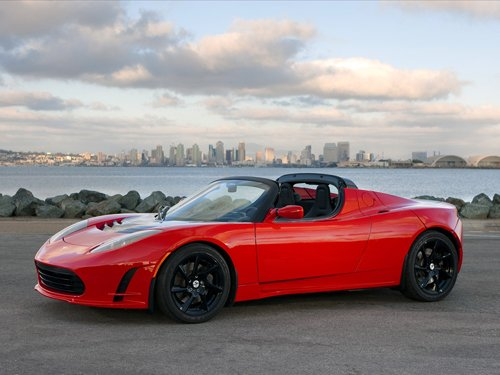 "Tesla Roadster 2.5 Car Poster Print on 10 mil Archival Satin Paper 36"" x 24'"