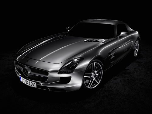 "Mercedes SLS AMG (2011) Car Poster Print on 10 mil Archival Satin Paper 24"" x 18"""