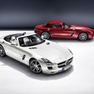 "Mercedes-Benz SLS AMG Roadster 2012 Car Poster Print on 10 mil Archival Satin Paper 16"" x 12"""