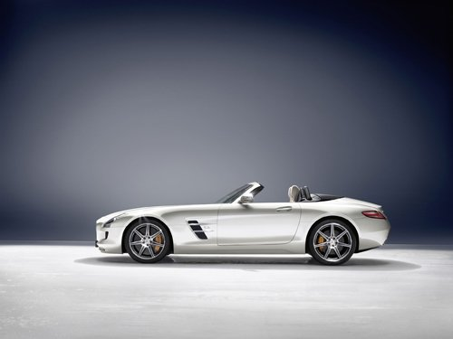 "Mercedes-Benz SLS AMG Roadster 2012 Car Poster Print on 10 mil Archival Satin Paper 36"" x 24"""