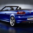 "Volkswagen Golf R Cabriolet Concept Car Poster Print on 10 mil Archival Satin Paper 16"" x 12"""