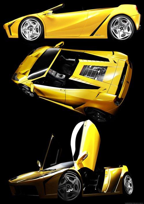 "Ferruccio Spyder Concept Car Poster Print on 10 mil Archival Satin Paper 20"" x 28"""